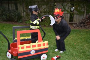 How to Prep Firefighter Themed Halloween Costume for the Family