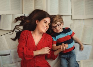 balancing grad school and motherhood - Lindsay of Anchored in Elegance with son Hudson
