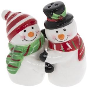Hugging Snowmen Salt & Pepper Shakers