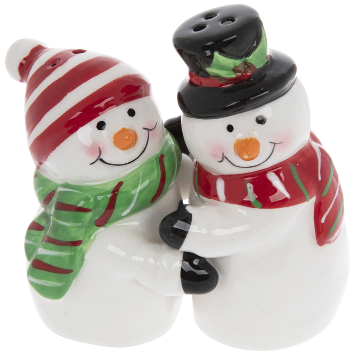 Hugging Snowmen Salt & Pepper Shakers