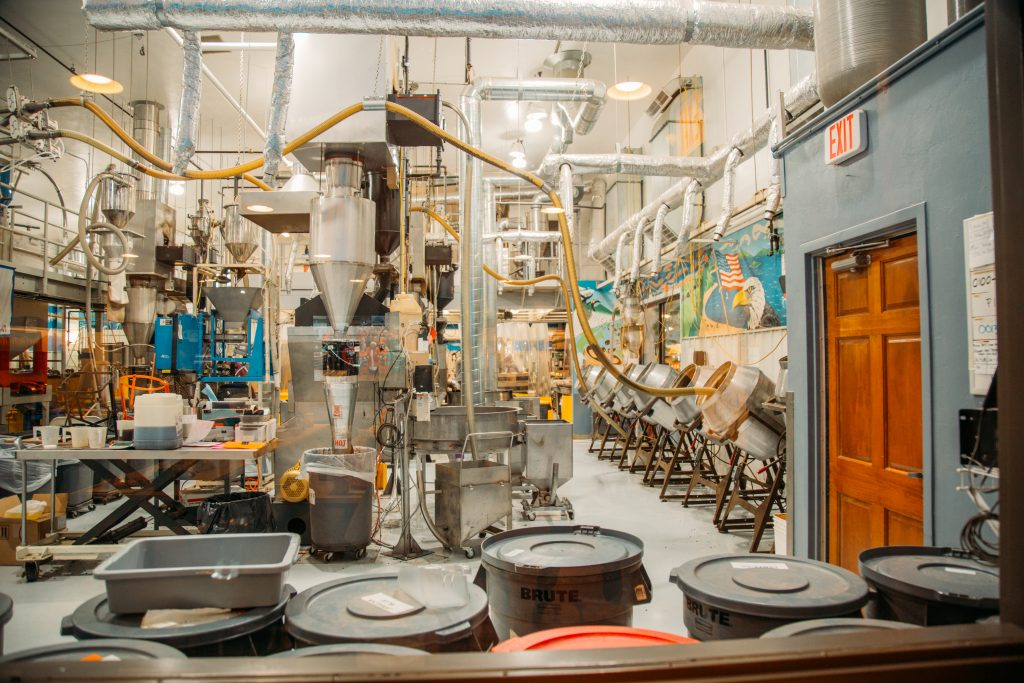 Check out the inside of Door County Coffee! production area!