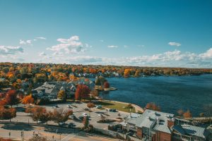 View from new Maritime Lighthouse Tower in Sturgeon Bay. (Not yet open to public.)