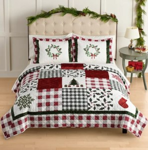 St. Nicholas Square® Holiday Patchwork Quilt with Shams by St. Nicholas Square