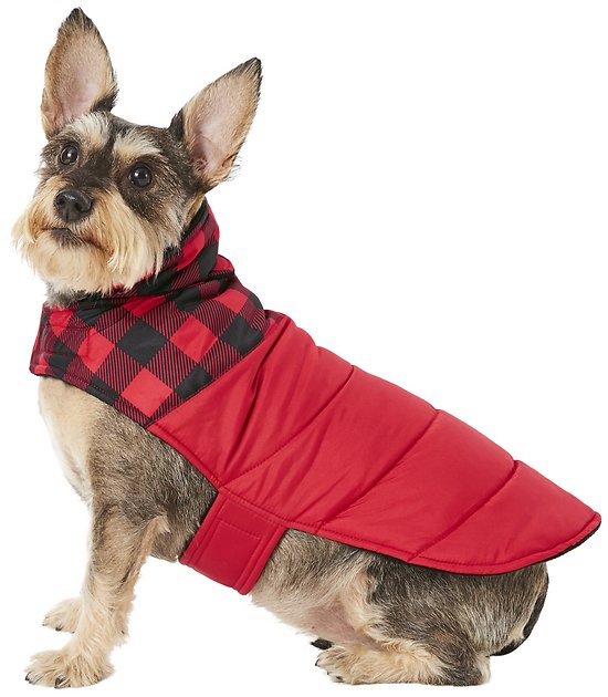 Frisco Boulder Plaid Insulated Dog & Cat Puffer Coat, slide 1 of 8 Slide 2 of 8 Slide 3 of 8 Slide 4 of 8 Slide 5 of 8 Slide 6 of 8 Slide 7 of 8 video, Slide 8 of 8video PrevNext Frisco Boulder Plaid Insulated Dog & Cat Puffer Coat