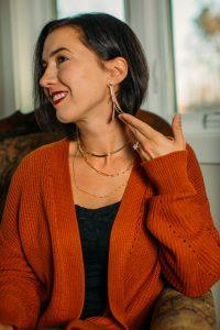 Rellery gold dangle earrings