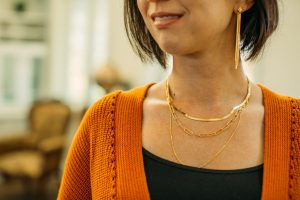 Rellery necklaces in gold layered