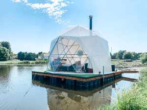 Floating Geodesic Dome on Historic Wine Route