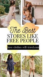 Stores Like Free People for cool boho clothing