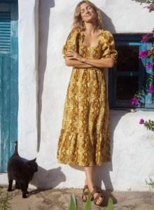 Faithfull Dawn Linen Maxi Dress