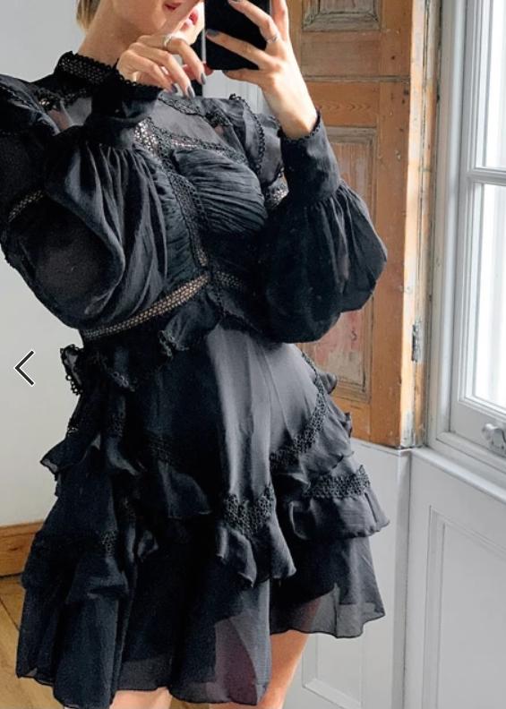 ASOS DESIGN lace insert victorianna mini dress