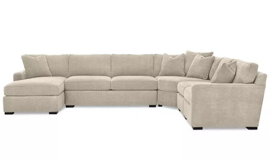 y 5-Piece Fabric Chaise Sectional Sofa, Created for Macy's