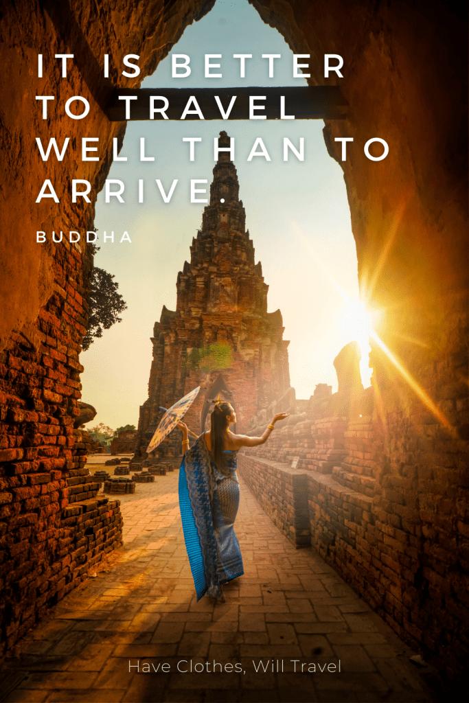 Buddha travel quote