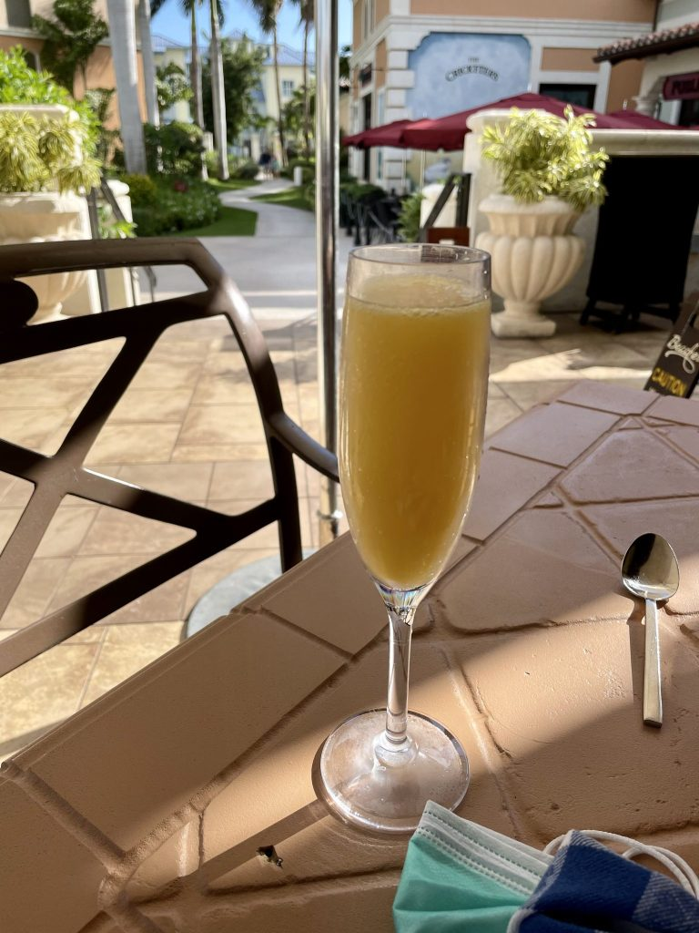 breakfast mimosas at beaches turks and caicos