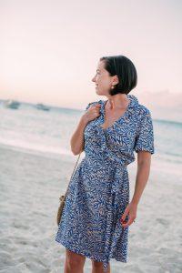 Diane Von Furstenberg Wrap Dress worn in Turks and Caicos