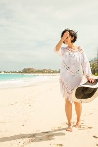 What to wear in Turks and Caicos - Swim suit coverups are a must pack item for Turks and Caicos