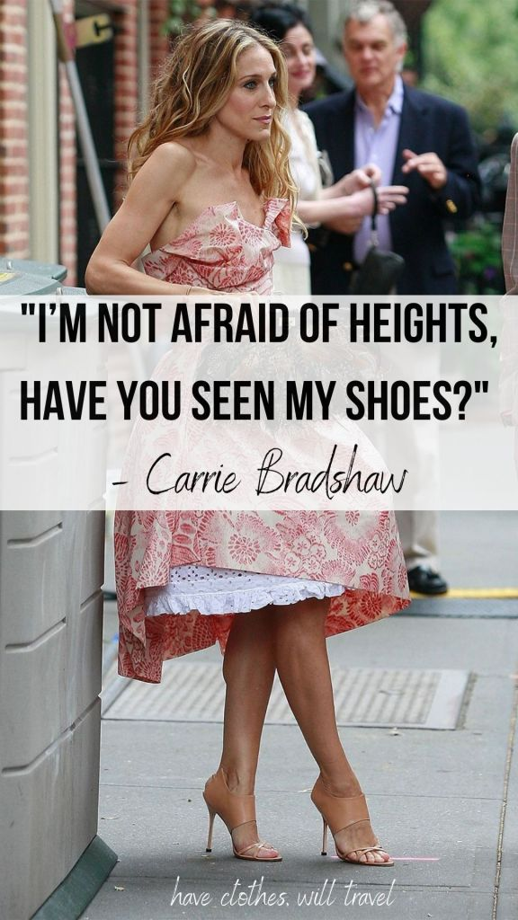 Carrie Bradshaw quotes about shoes