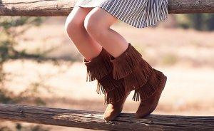 Women's 3-Layer Fringe Boot