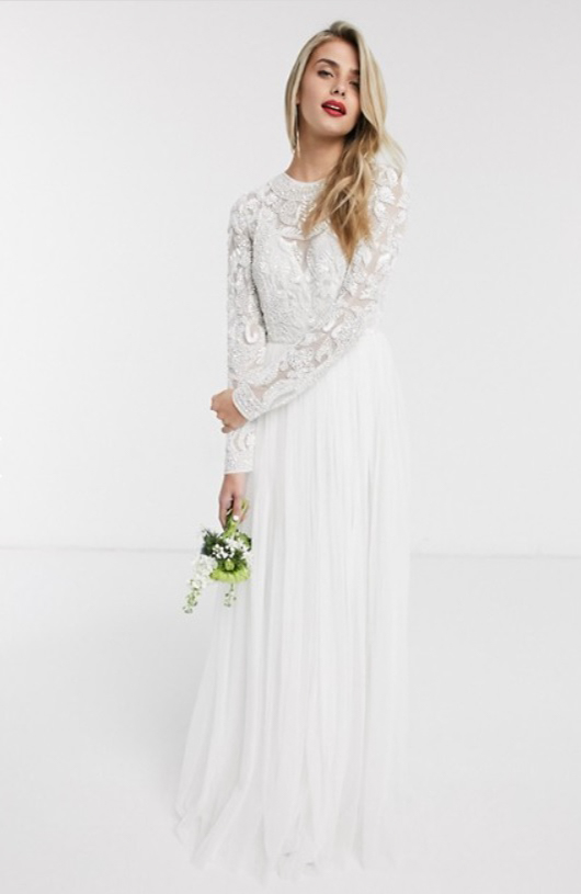ASOS EDITION Elizabeth beaded bodice wedding dress
