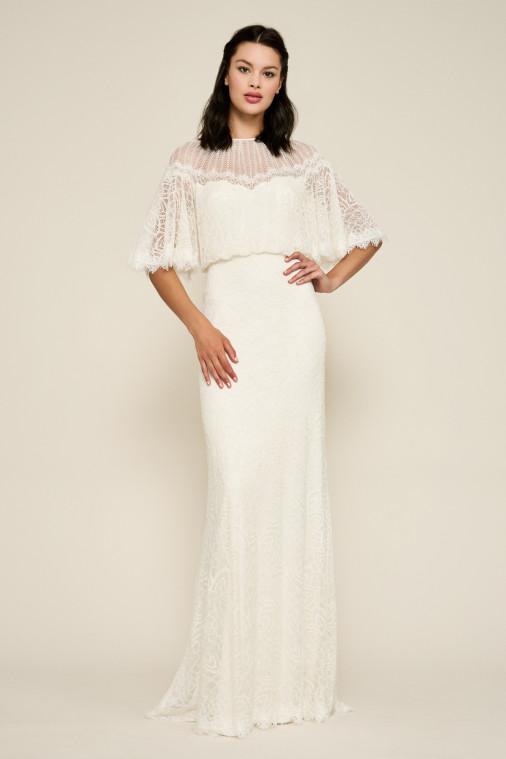 Tadashi Shoji Lilyan Lace Gown with Overlay