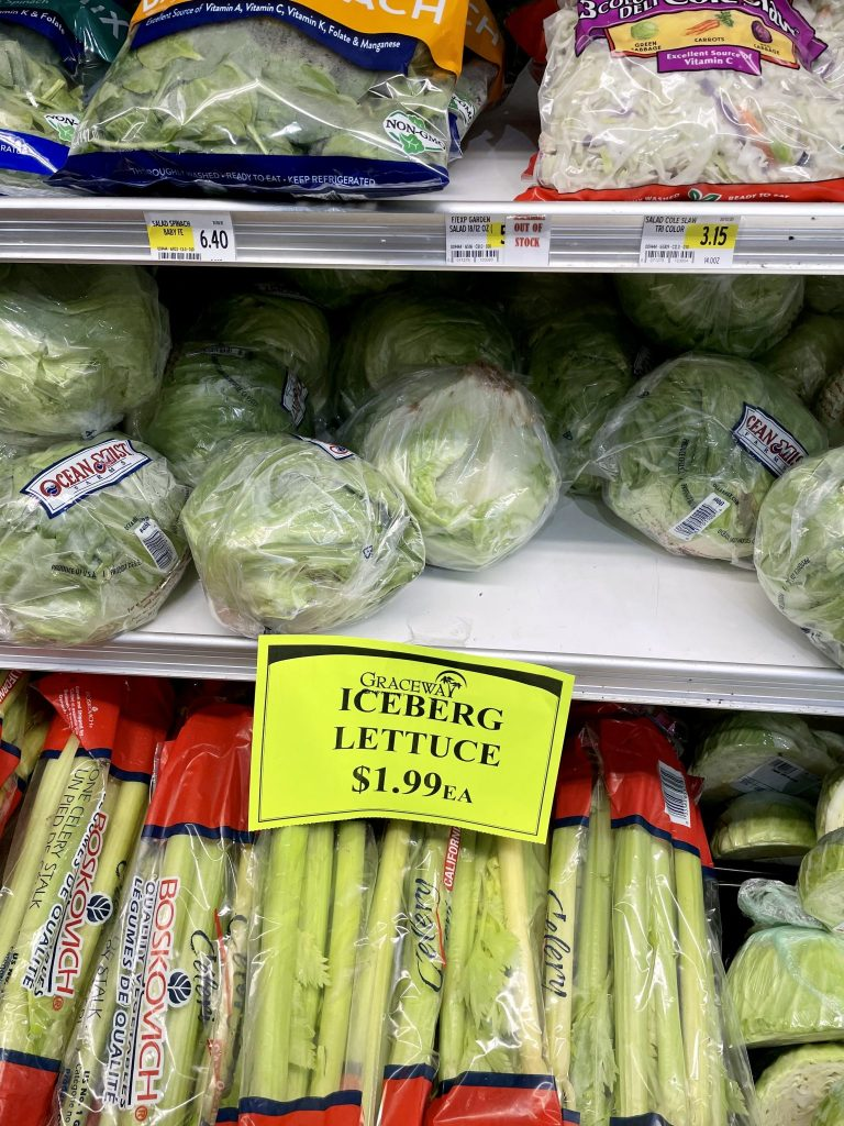 Lettuce Grocery Prices in Turks and Caicos