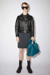 Cropped biker jacket black stores like AllSaints