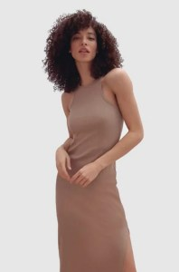 RASHA RIBBED JERSEY DRESS