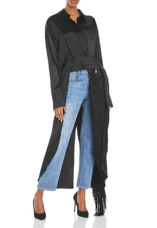 Hellessy Earl Asymmetrical Silk Top