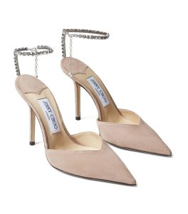 JIMMY CHOO Saeda 100 Suede Pumps