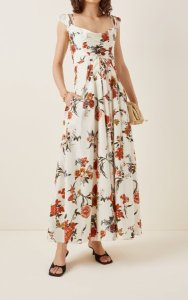 Brock Collection Tamiko Floral-Printed Cotton Cocktail Dress