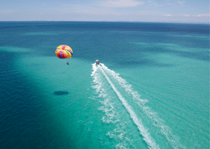 Try Parasailing on Grace Bay
