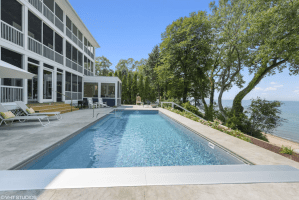 Modern 9-bedroom Lakefront Mansion with Heated Pool - Union Pier, Michigan