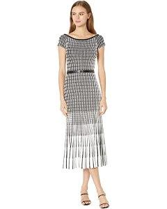 ted baker Julii Bardot Stripe Knitted Midi Dress
