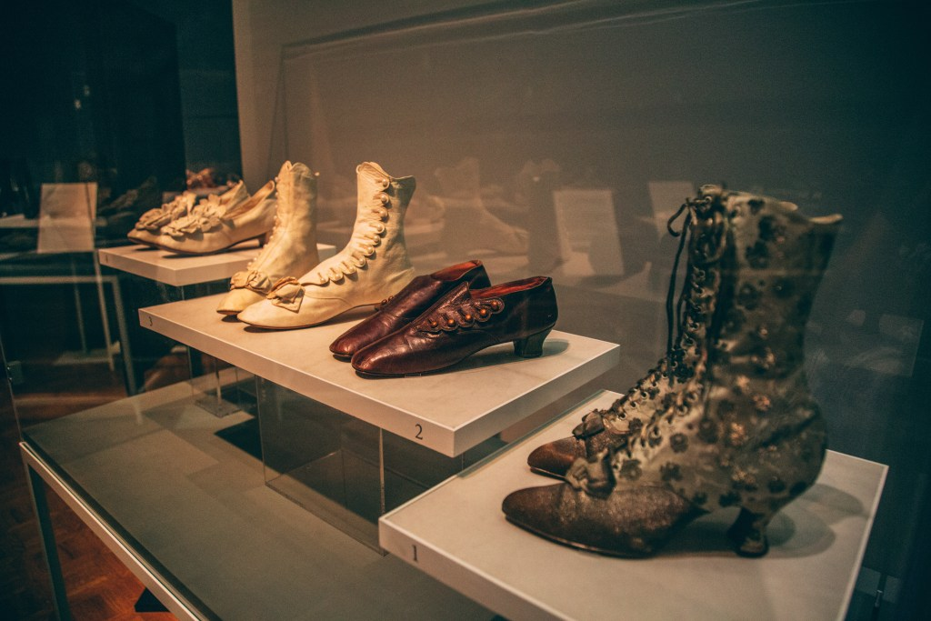 """""""Walk This Way: Footwear from the Stuart Weitzman Collection of Historic Shoes"""" exhibit is at the Paine Art Center in Oshkosh, Wisconsin"""