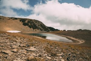 The Frozen Lake in Mount Rainier National Park.
