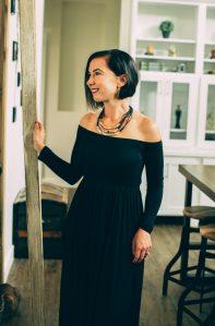 Amoretu Womens Casual Long Sleeve Off Shoulder Maxi Long Dress with Pocket