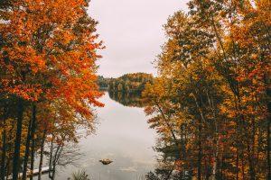 Lake Tomahawk Wisconsin during fall