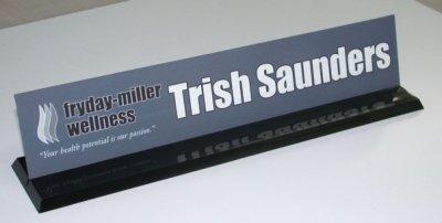 Trish Saunders Name Plate