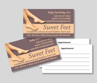 Sweet Feet Business Card