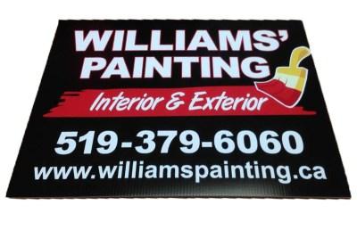 William's Painting Sign