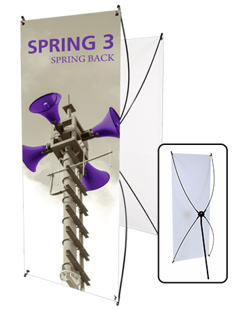 spring 3 banner stand