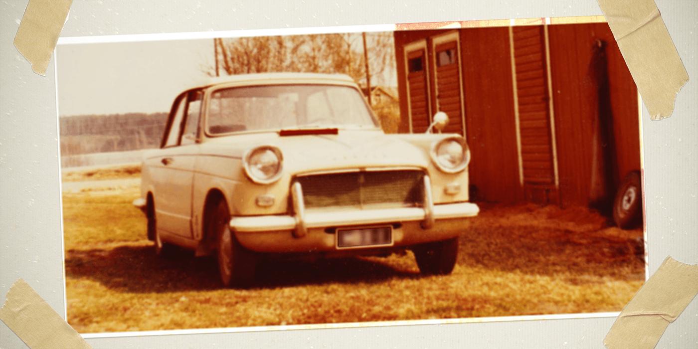 Triumph Herald olis suosittu perheauto 1979-luvulla.
