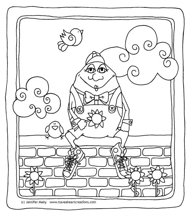 HUMPTY DUMPTY COLORING SHEET « Free Coloring Pages