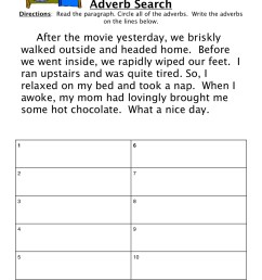 Adverb Movie Worksheet • Have Fun Teaching [ 1294 x 1000 Pixel ]