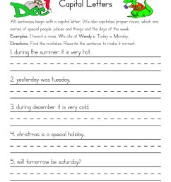 Fixing Capitalization Errors Worksheet • Have Fun Teaching [ 1294 x 1000 Pixel ]