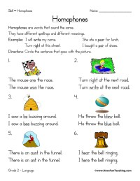 Homophones Worksheet - Have Fun Teaching