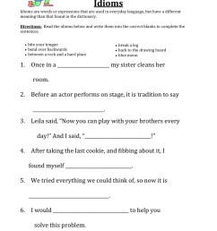 Defining Idioms Worksheet • Have Fun Teaching [ 1294 x 1000 Pixel ]