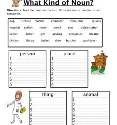 Noun Sorting Worksheet • Have Fun Teaching [ 1294 x 1000 Pixel ]