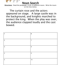 Searching for Nouns Worksheet • Have Fun Teaching [ 1294 x 1000 Pixel ]