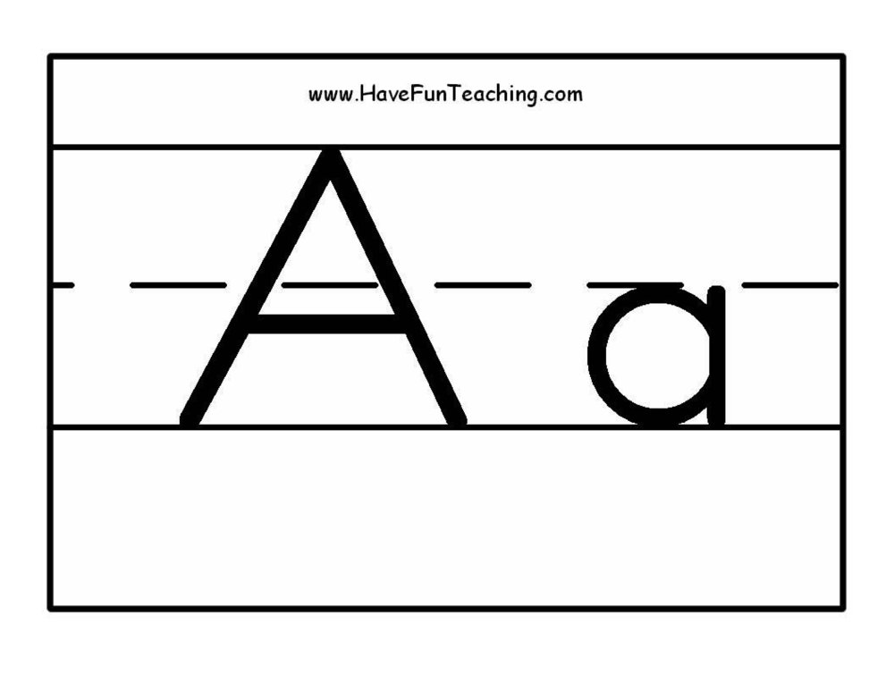 Alphabet Letter Black and White Posters • Have Fun Teaching