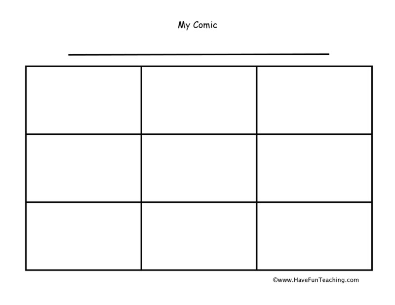 cartoon strip template ks2 – Comic Strip Worksheet